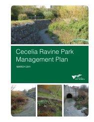 Cecelia Ravine Park Management Plan [PDF - 1.4 MB] - Victoria