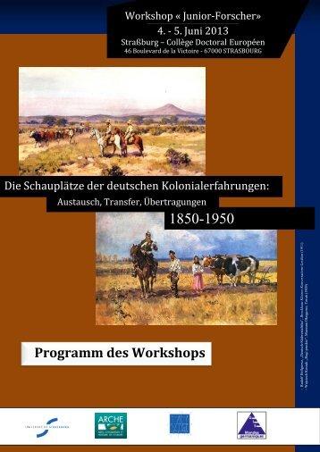 Programm des Workshops - Université de Strasbourg