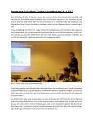 Bericht zum GeNeMove-Treffen vom 19.11.07