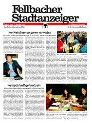 Fellbacher Stadtanzeiger - Stadt Fellbach