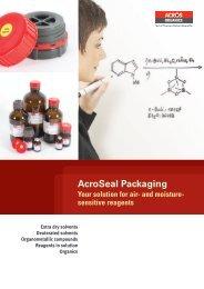 AcroSeal Packaging Brochure 2013 - Acros Organics