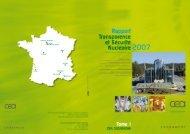 Téléchargez l'édition 2007 du rapport TSN - Centre de Cadarache
