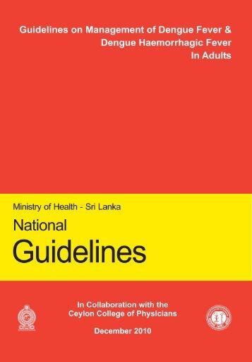Guidelines on management of dengue - Sri Lanka Epidemiological ...