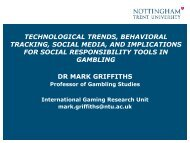 SOCIAL GAMING - The National Council on Problem Gambling