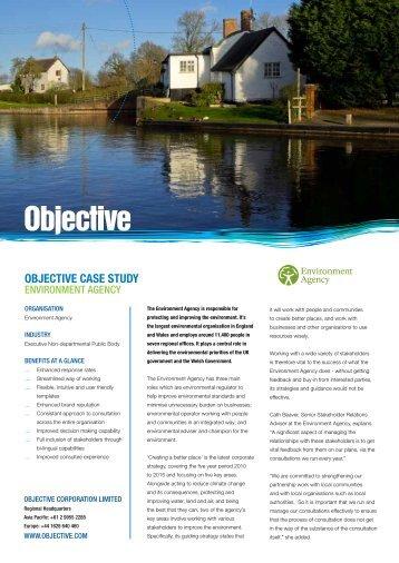 OBJECTIVE CASE STUDY - Objective Corporation