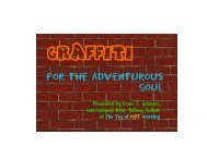 Graffiti for the Adventurous Soul - The Real Success Resource Center