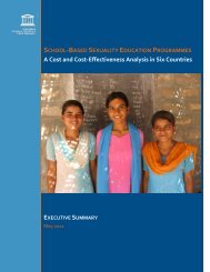 Cost and cost-effectiveness of sexuality education ... - Unesco