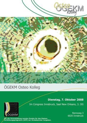 Programm Osteo Kolleg Innsbruck.pdf - Österreichische Gesellschaft ...