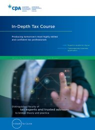 NEW In-Depth Tax Course - CICA Conferences & Courses