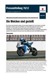 IDM Superbike und Supersport Hockenheimring - Suzuki