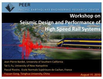 Workshop on Seismic Design and Performance of High ... - PEER
