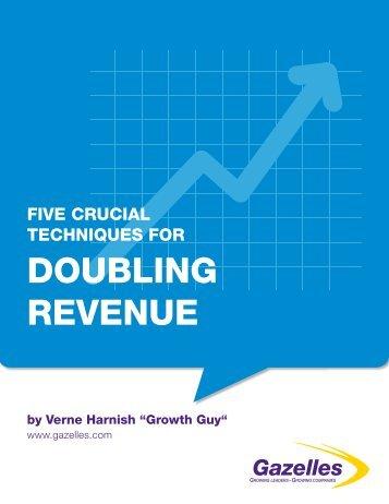 Five Crucial Technique for Doubling Revenue - Gazelles