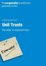 Unit Trusts - The Co-operative Insurance