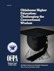 Oklahoma Higher Education: Challenging the Conventional Wisdom