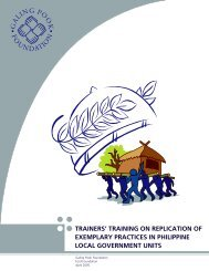trainers' training on replication of exemplary practices ... - galing pook
