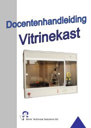Handleiding Vitrinebeveiliging - Brink Techniek
