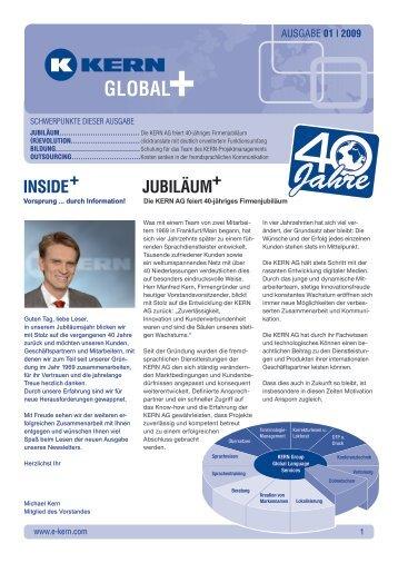 KERN Newsletter Global Plus 2009-01 - KERN AG Sprachendienste