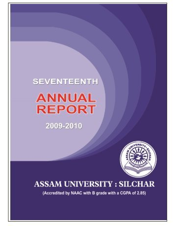 Annual Report 2009-2010 - Assam University