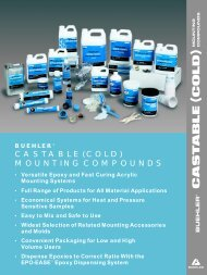 CASTABLE (COLD) MOUNTING COMPOUNDS - BUEHLER