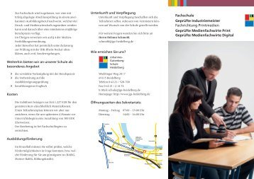 Fachschulinfo-Flyer - Johannes-Gutenberg-Schule Heidelberg