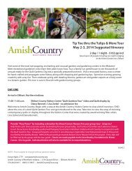 Tip Toe thru the Tulips and More! Suggested ... - Amish Country