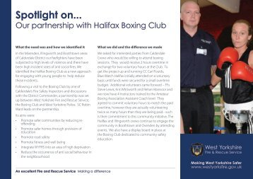 Spotlight on... Our partnership with Halifax Boxing Club