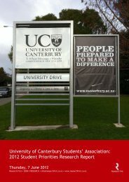 Student Preferences Survey (PDF, 1.94MB) - University of Canterbury