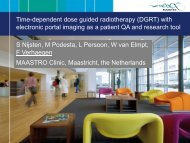 Time-dependent dose guided radiotherapy (DGRT) with ... - Varian
