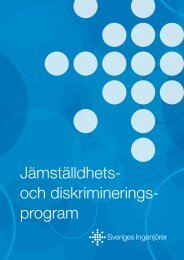Jämställdhets- och diskriminerings- program - Sveriges ingenjörer