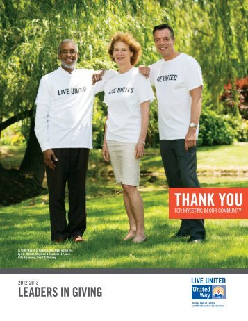 Leaders in Giving - United Way of Central and Northeastern ...