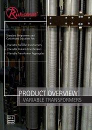 Variable Toroidal Transformers - Ruhstrat GmbH
