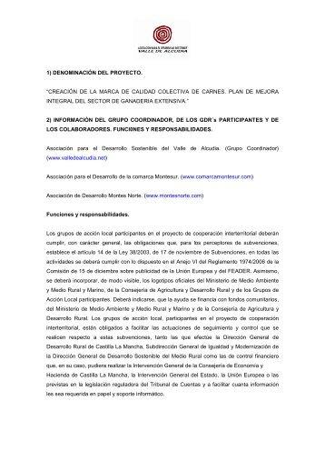 MARCA DE CALIDAD COLECTIVA - asociación para el desarrollo ...