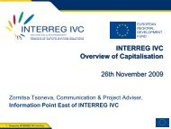 PowerPoint Presentation INTERREG IVC
