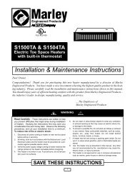 Installation & Maintenance Instructions - Electric Bathroom Heaters
