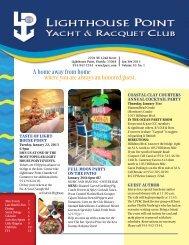 Jan/Feb 2013 - Lighthouse Point Yacht and Racquet Club