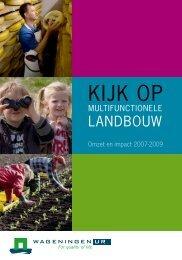 Kijk op multifunctionele landbouw; Omzet en impact 2007-2009