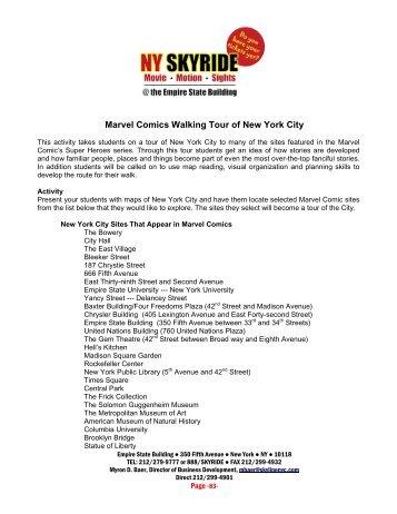 Marvel Comics Walking Tour of New York City - NY Skyride