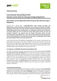 Pressemappe internationaler Autosalon 2013 - Erdgasfahren