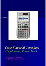 CASIO Financial Consultant: A Supplementary Reader - Part 4