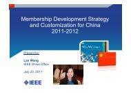Membership Development Strategy and Customization for China ...
