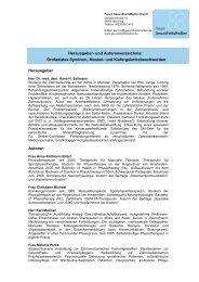 Herausgeber - Forum Gesundheitsmedien