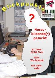 Ausgabe 2-2009 - CVJM Pfalz eV