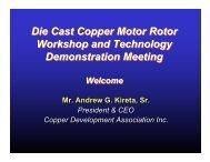 Die Casting Copper Rotors - Copper Development Association