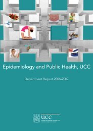 Epidemiology and Public Health, UCC - University College Cork