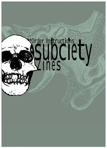 Subciety Zines Order Instruction - Lists Indymedia