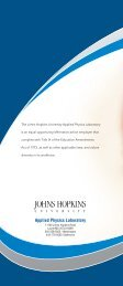 Download the brochure - The Johns Hopkins University Applied ...