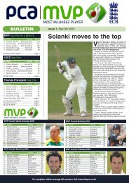 issue 1 - May 6 - The Professional Cricketers' Association