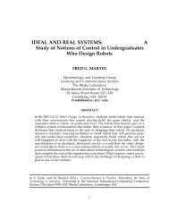 IDEAL AND REAL SYSTEMS: A Study of Notions of Control in - MIT