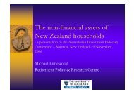 Presentation: The non-financial assets of New Zealand households