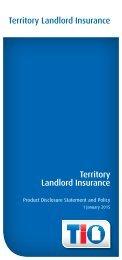 Territory Landlord Insurance Territory Landlord Insurance - TIO